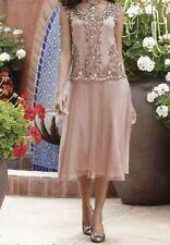 sz Large Golden Blush Dress wedding/cruise/formal wear Midnight Velvet new