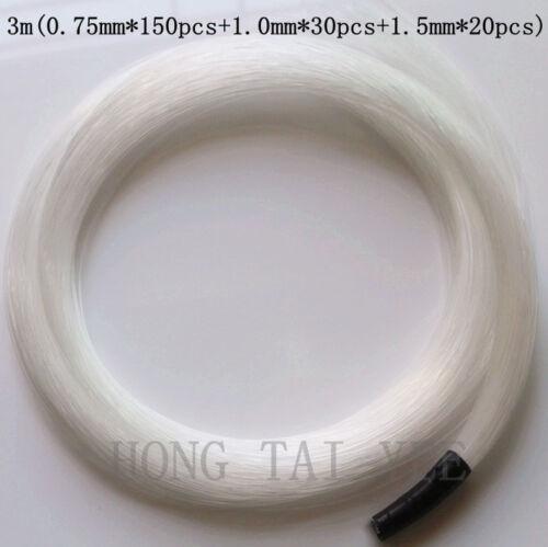 0.75mm*150pcs+1.0mm*30pcs+1.5mm*20pcs Fiber optical cable 3m