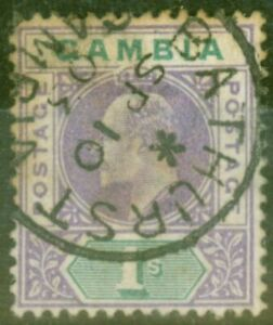 Gambia-1902-1s-Violet-amp-Green-SG52-Ave-Used-CDS