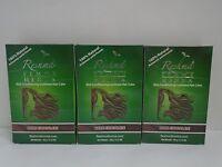 Reshma Henna Powder Dark Chocolate For Hair Herbal Natural Powder - Lot Of 3