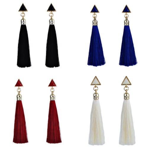 Acrylique Géométrique Triangle Boucles d/'oreille Femmes Long Gland BouclesBijoux