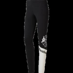 Reebok Femmes Classiques Logo Leggings Neuf Noir Blanc Active Wear 2019 Dh1335 Ebay