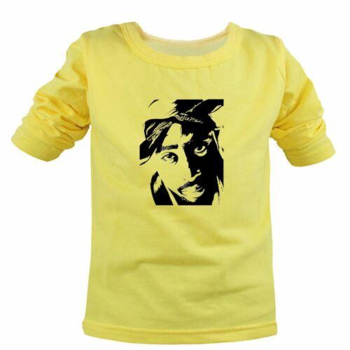 Cool 2Pac Makaveli Hip hop music Kids Girls Boys T-Shirts Tee Children Print Top