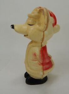 Vintage-15-034-Hard-Plastic-Christmas-Mouse-Does-Not-Have-Light