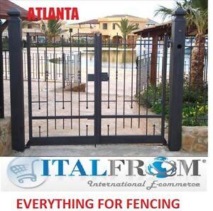 Details about portes de jardin portails battant (Atlanta) fer forgé  galvanisé
