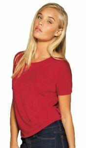 Bella-Women-039-s-Cutout-Back-Flowy-T-Shirt