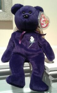 Mint VERY RARE PRINCESS DIANA TRUE 1st Edition Beanie Baby  PVC ... 820eee324421
