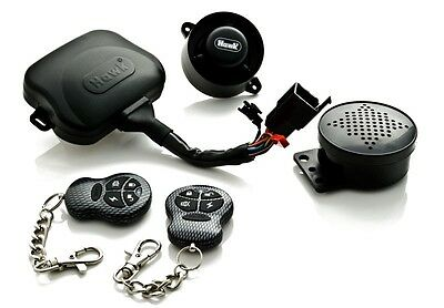 HAWK LCD 2 WAY PAGER MOTORCYCLE ALARM /& IMMOBILISER REMOTE START WITH TILTSENSOR