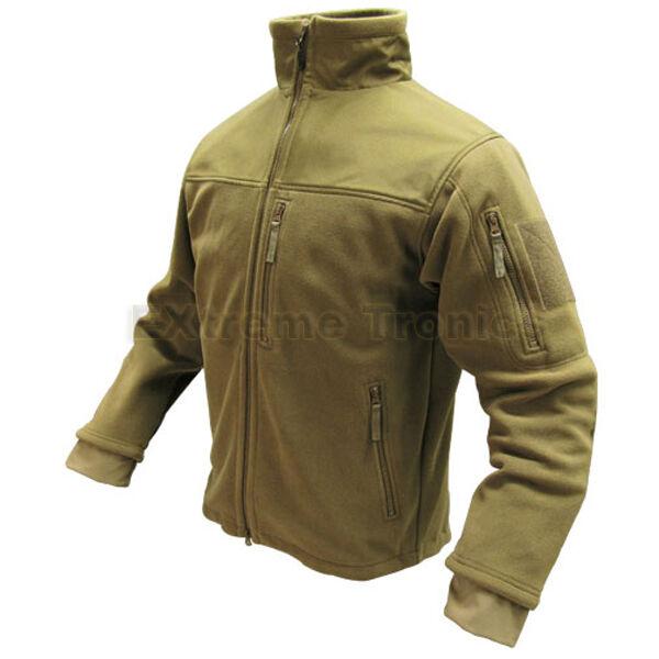 Condor 601 Tan XXXL ALPHA Micro Fleece Teljes Dupla Zipper Csiszoló Jacket Coat