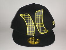 New Era Hurley TOWNSER Hat Yellow Black 7 1/2 ($35) Cap Skate Surf Fitted Flat