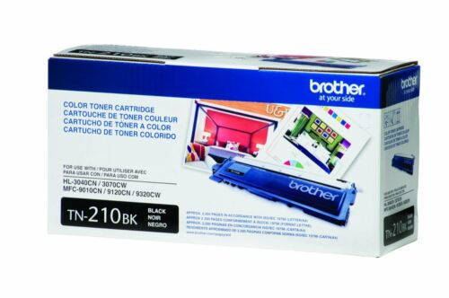 Brother TN210BK Black Toner Cartridge 2 PACK Genuine OEM