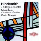 3 Organ Sonatas Variations on a Recitative Bowyer 0710357541124 by Hindemith