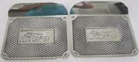 Ford Model T Die Cast Polished Aluminum Step Plates Script W/ Mounting Kit Pair