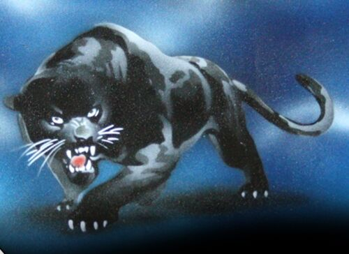 BLACK PANTHER Airbrushed Black T-shirt design Any size up to 6X NEW