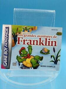 jeu-video-notice-BE-nintendo-gameboy-advance-FRA-grandes-aventures-franklin