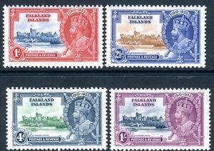 FALKLAND ISLANDS-1935 Silver Wedding Set Sg 139-42 LIGHTLY MOUNTED MINT V16501
