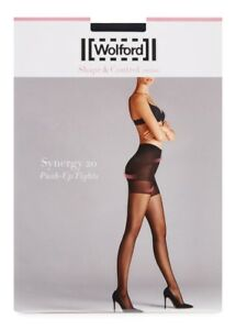 0929b90a Image is loading Wolford-Synergy-20-Push-Up-Tights-Black