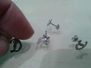 AgréAble 1 Paio Orecchini Personalizzati 2 Iniziali Uguali Argento 925 Silver Earrings Design Professionnel