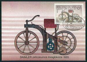 HUNGARY MK MOTORRAD MOTORCYCLE DAIMLER CARTE MAXIMUM CARD MC CM bt72