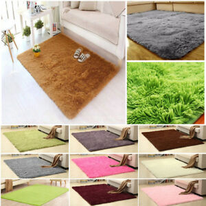 Warm Fluffy Rugs Anti Skid Shaggy Rug Dining Room Carpet Floor Mat