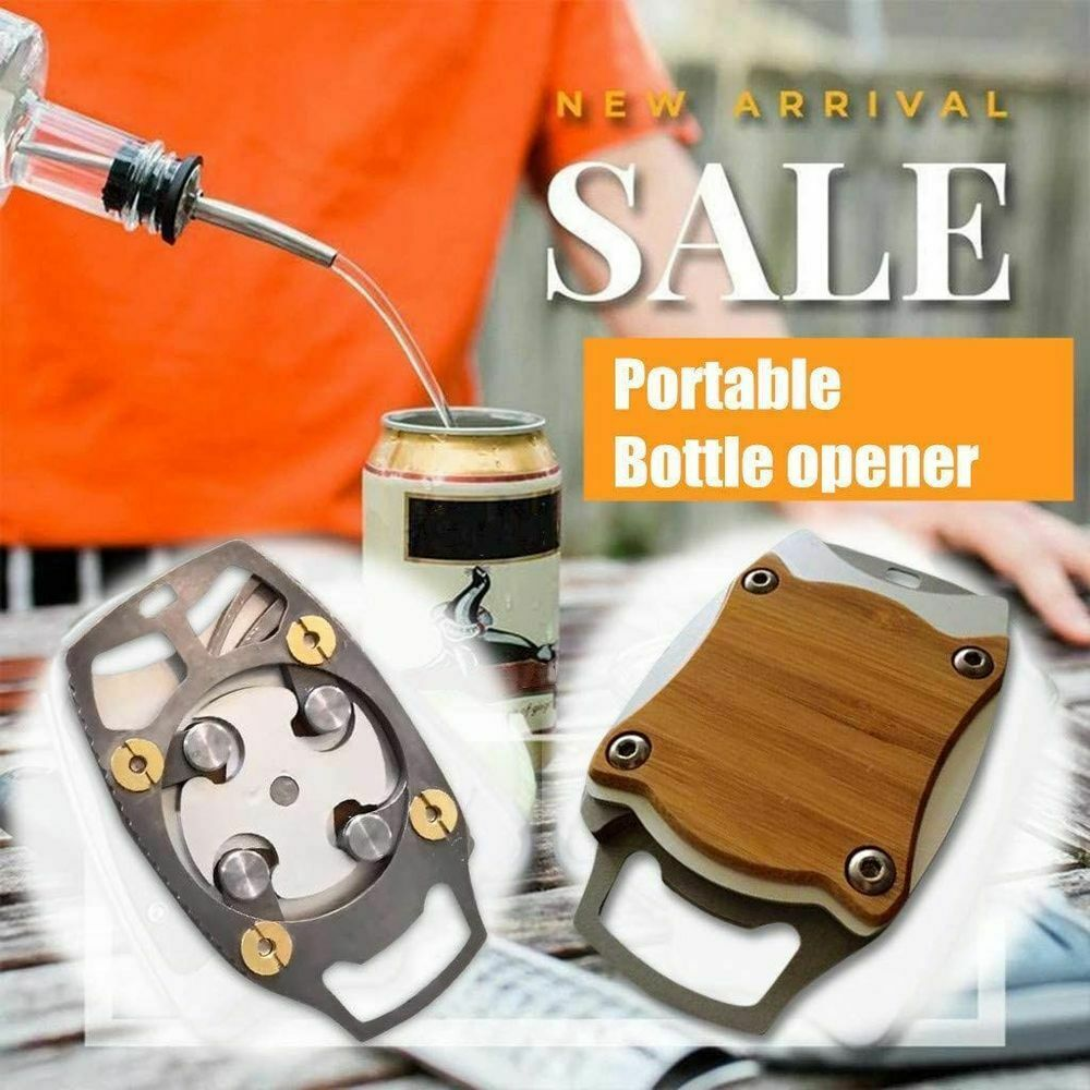 Go Swing Topless Can Opener NEW Upgrade Wood+Metal Can Jar O