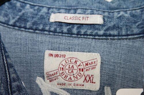 Lucky Brand 7M12738 Tim McGraw Soul2Soul Truck Yeah Denim Western Shirt Sz L NWT
