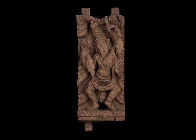 Jh A Carved Wood Chariot Panel Tamil Nadu South India 2019 Offiziell Holz Paneel Motiviert Indien 19