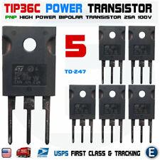 5pcs Tip36c Tip36 Power Transistor 25a 100v Pnp Bipolar To 247 Usa