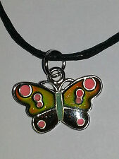 Stimmungskette  Anhänger Schmetterling bunt Farbwechsel Schmuck *30006*