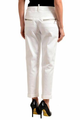 Dsquared2 blanches femmes minces décontracté pour Pantalon rR6qgr