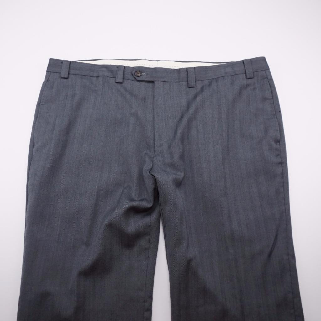 LAUREN Ralph Lauren Flat Front Lined Wool Dress Pants Grey Mens 42x30