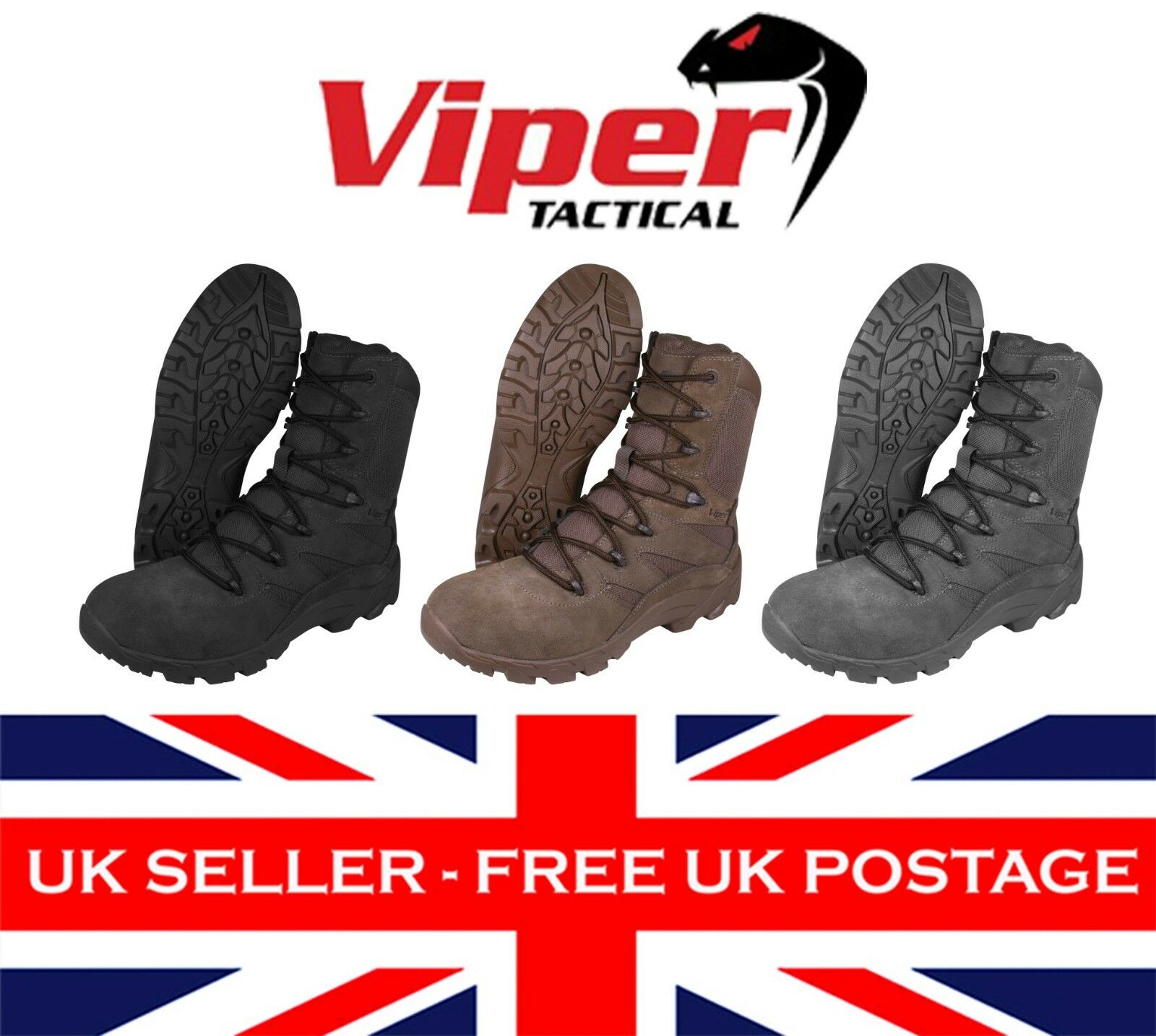 Viper CoGrün Stiefel Lightweight Tactical Military Army Combat Cadet Airsoft UK