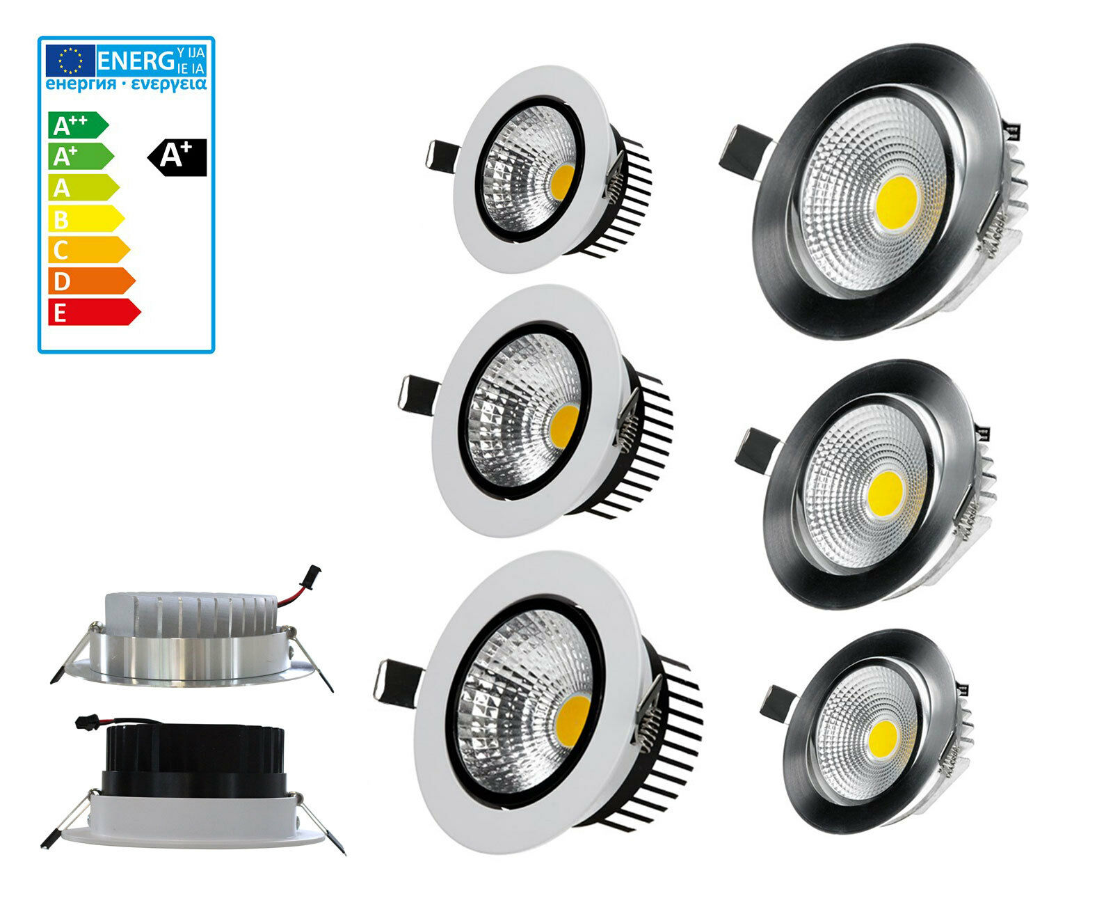 Led Led Led Spot Encastrable Plafonniers Encastré Einbau-Spot Lampe Cob Lumière b56103