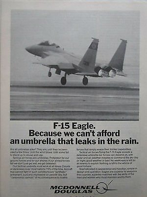 2//1981 PUB MCDONNELL DOUGLAS F-15 STRIKE EAGLE FIGHTER US AIR FORCE ORIGINAL AD
