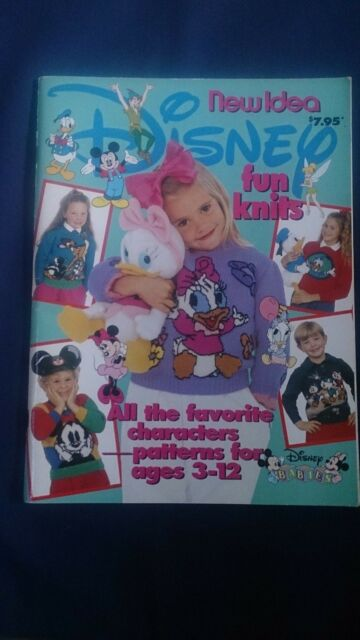 Disney Fun Knits Idea Knitting Pattern Book Ages 3 To 12 99 Pages