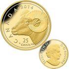 2014 Canada 25 cent 0.5 g Fine Gold Coin - Bighorn Sheep - Tax Exempt