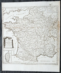 Map Of France French Revolution.Details About 1794 Thomas Condor Antique Map Of France In Departments Post French Revolution