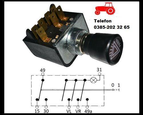 10x Oldtimer MTS Traktor Schlepper Auto Warnblinkschalter Zugschalter Schalter