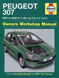 haynes manual 4147 peugeot 307 1 4 hdi 1 6 hdi 2 0 hdi diesel 2001 rh ebay co uk peugeot 307 1.6 hdi service manual peugeot 307 sw 2.0 hdi service manual