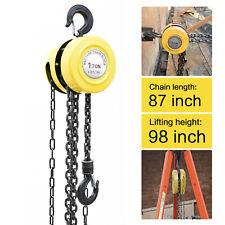 1 Ton Chain Hoist Puller Block Fall Chain Hoist Hand Tools Lifting Chain 2200lbs