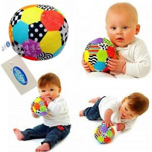 Playgro-Baby-Toddler-Kids-Children-Soft-Plush-Rattles-Soccer-Ball-Crib-Sport-Toy