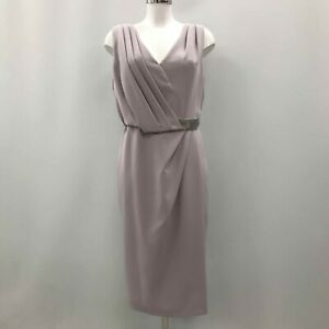 NEW-JACQUES-VERT-Lilac-Pleated-Lined-Special-Occasion-Dress-Women-UK-14-511634