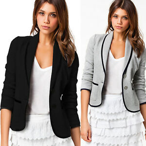 AU-Women-Formal-Short-Jacket-Ladies-Casual-Long-Sleeve-Button-Coat-Top-Outerwear