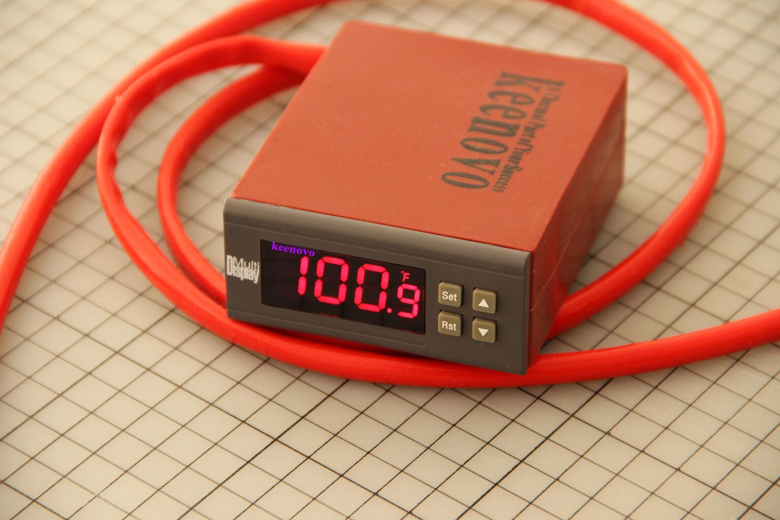"""Dia 10/"""" 500W 220V Tank Pot Bucket Circular Silicone Heater w//Digi Controller"""