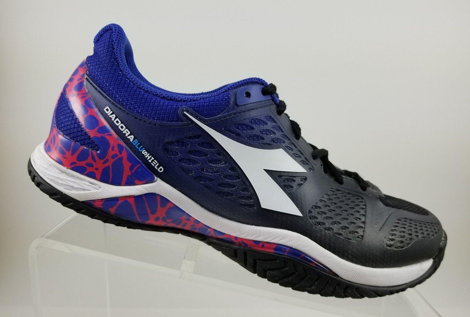Diadora Speed azulshield AG AG AG Negro Azul Zapatos tenis De Correr Atléticos para mujer 7.5M  barato y de moda