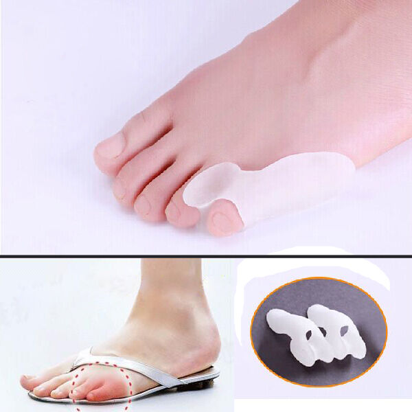 2pcs Little Toe Bunion Cushion Pain Toe Separator Relief Foot GEL Straighteners