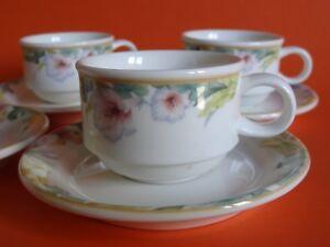 Radient 4 Tasses A Cafe Expresso Porcelaine De Villeroy Et Boch Exotica Taille N°8