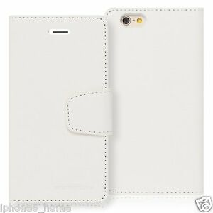 Genuine-MERCURY-Goospery-White-Leather-Flip-Case-Wallet-Cover-For-iPhone-6-6s