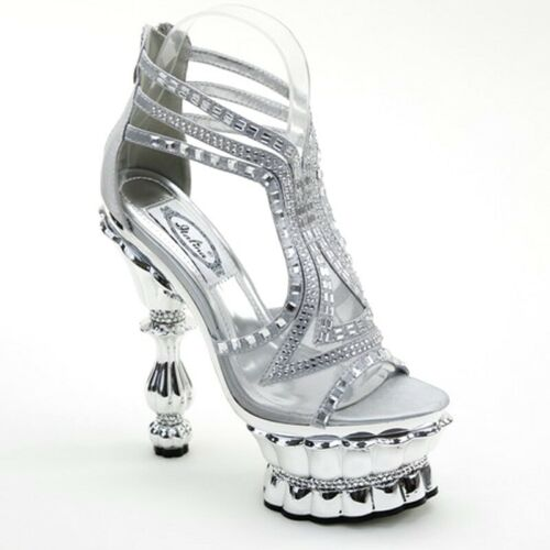 Brieten Women/'s High Heel Platform Sandals Stilettos Back Zip Open Toe Sandals