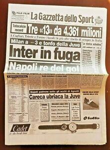 GAZZETTA-DELLO-SPORT-21-11-1988-JUVENTUS-NAPOLI-3-5-MARADONA-CARECA-novembre